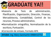 Asesoría de tesis de administración