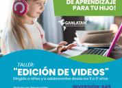 Talleres online edición de videos y cÓmics niños