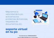 Soporte técnico virtual de todo tipo de pc