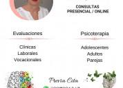 Psicologa clínica psicoterapeuta