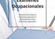Examenes ocupacionales. garantizado.