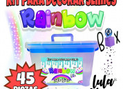 Súper kit rainbow para decorar slime