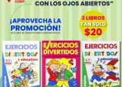 3 libros para niÑos $20