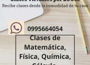 Clases de matemática, física, química, estadística