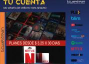 Cuentas netflix al por mayor para todo el ecuador