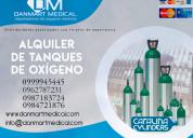 Alquiler de tanques de oxígeno