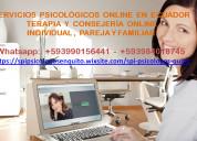 Psicoterapia online para todo el ecuador