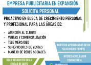 Se solicita personal p/empresa publicitaria